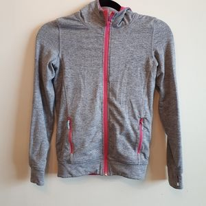 Ivivva grey ans pink reversible jacket